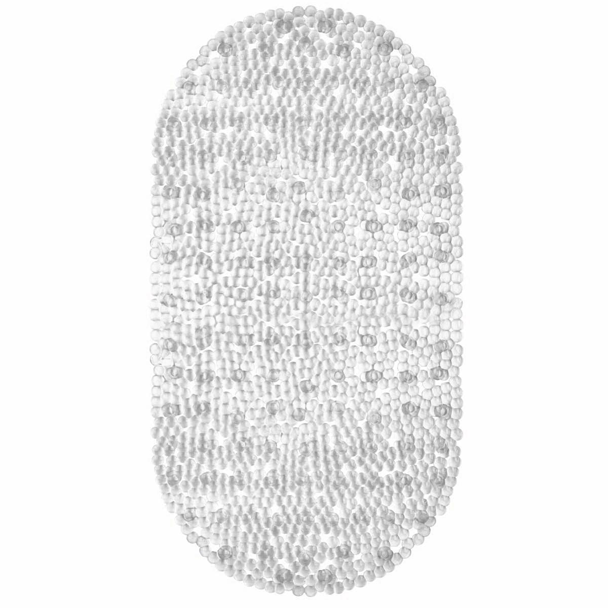 Коврик для ванны Valiant White Pearls, противоскользящий, 69 см х 39 смN6939-WPКоврик для ванны Valiant White Pearls выполнен из 100% винила. Противоскользящий коврик - это хорошая защита детей и взрослых от неожиданных падений на гладкой мокрой поверхности. Коврик очень плотно крепится ко дну множеством присосок, расположенных по всей изнаночной стороне. Отверстия, предназначенные для пропуска воды, способствуют лучшему сцеплению с поверхностью, таким образом, исключая скольжение. Принимая душ или ванную, постелите противоскользящий коврик. Это особенно актуально для семьи с маленькими детьми и пожилыми людьми.