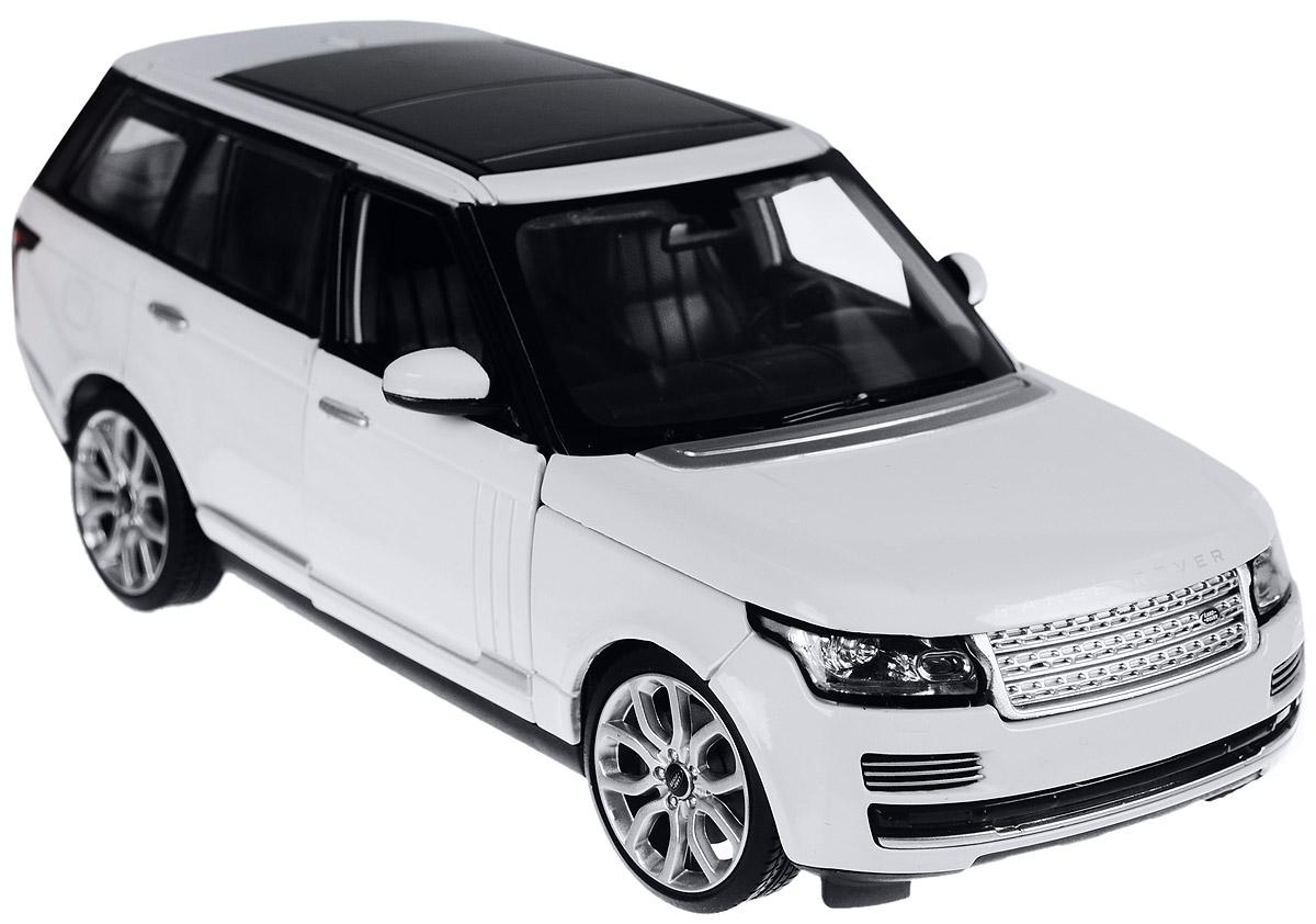Rastar Модель автомобиля Range Rover цвет белый56300Коллекционная модель Rastar Range Rover привлечет внимание как ребенка, так и взрослого коллекционера. Машинка является точной уменьшенной копией настоящего автомобиля. Модель выполнена из металла с использованием пластика и оснащена резиновыми колесами, обеспечивающими хорошее сцепление с любой поверхностью пола. Колеса и руль вращаются, капот и передние дверцы открываются. Коллекционная модель Rastar Range Rover станет отличным подарком и украшением любой коллекции!