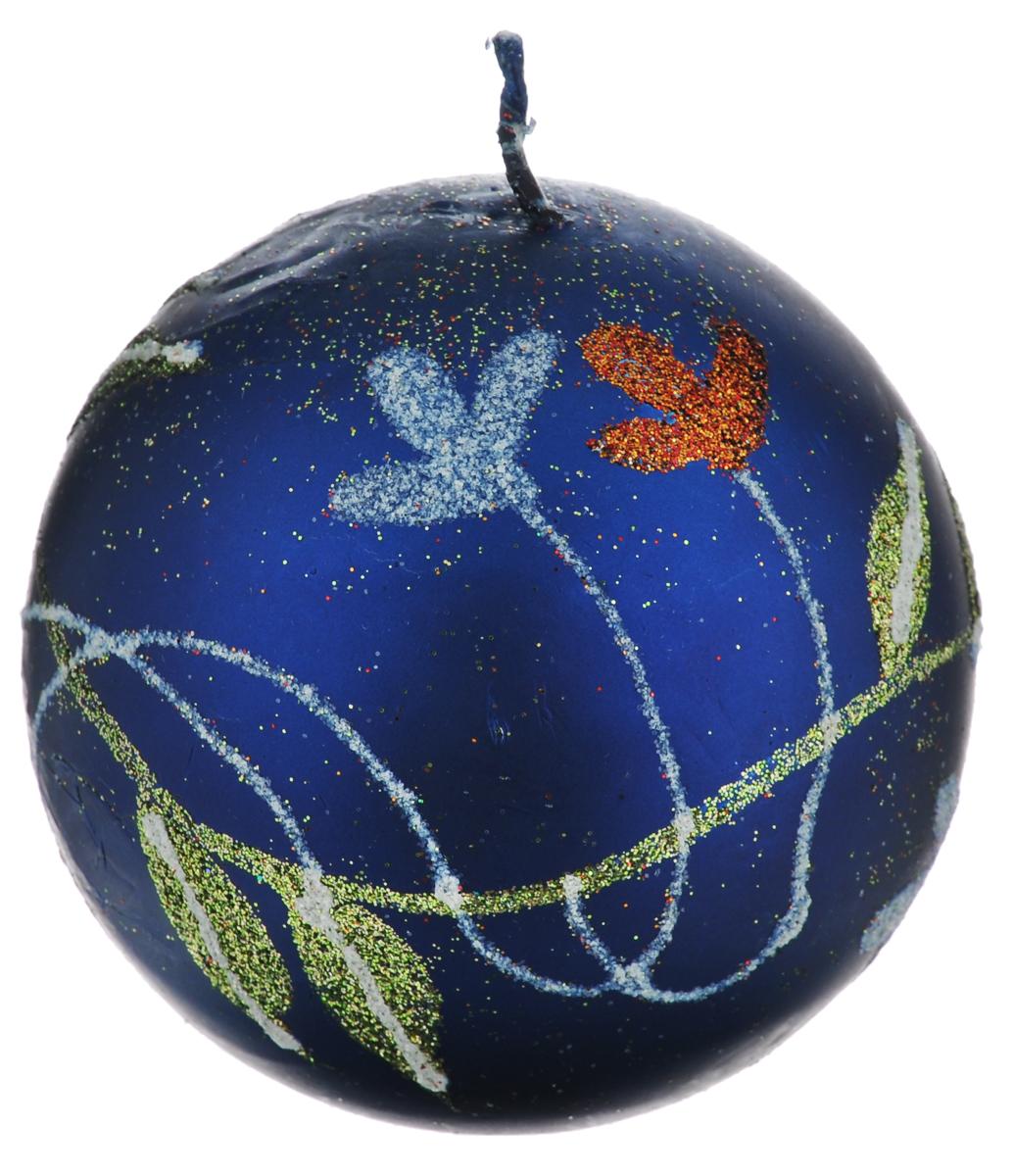 Свеча-шар Winter Wings Цветы, диаметр 7,3 смN162414Свеча-шар Winter Wings Цветы, изготовленная из парафина, станет прекрасным украшением интерьера помещения, создаст атмосферу таинственности и загадочности. Свеча имеет форму шара, украшена красивым цветочным рисунком, покрытым разноцветным глиттером.