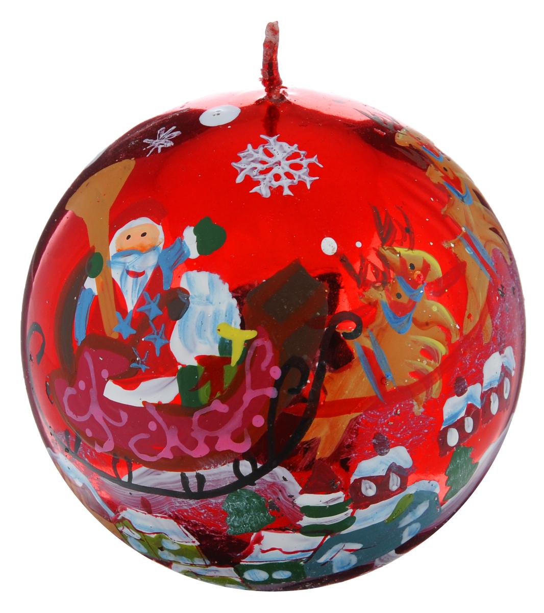 Свеча-шар Winter Wings Дед Мороз, диаметр 7,3 смN162423Свеча Winter Wings Дед Мороз, изготовленная из парафина в форме шара, станет прекрасным украшением интерьера помещения в преддверии Нового года. Свеча имеет глянцевое покрытие с красивым новогодним рисунком. Такая свеча создаст атмосферу таинственности и загадочности и наполнит дом волшебством и ощущением праздника. Хороший сувенир для друзей и близких.