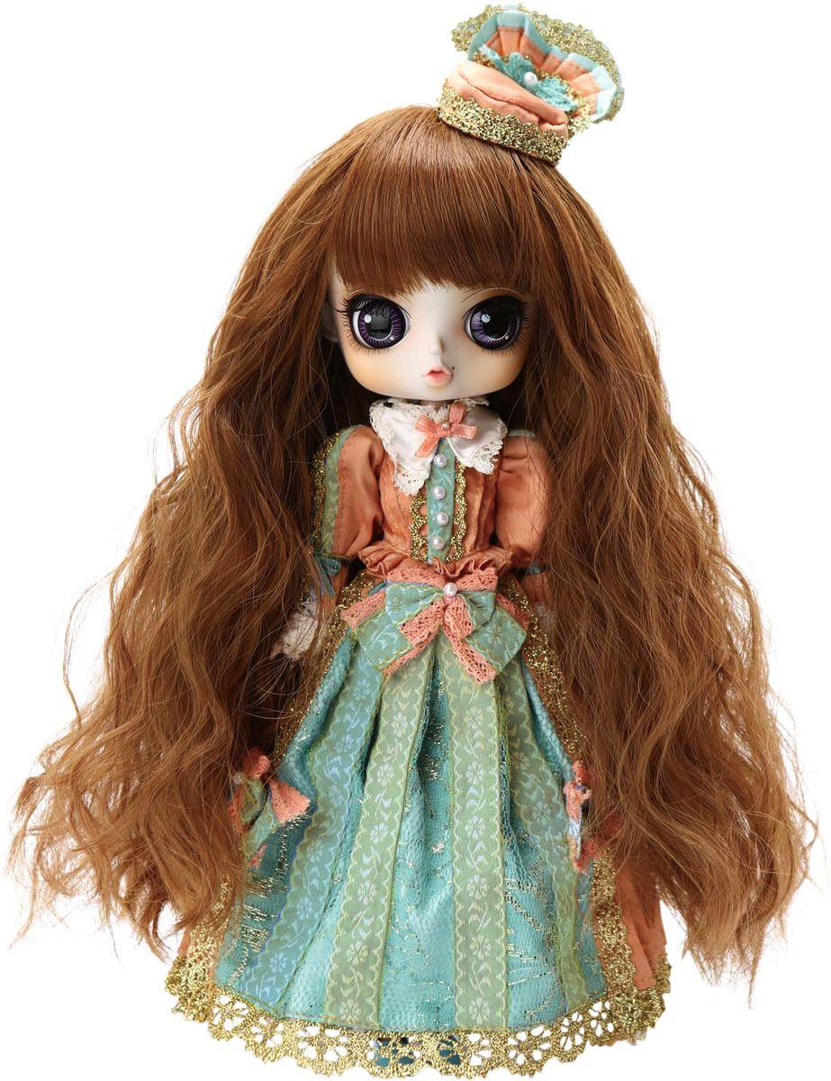 Groove Кукла Byul КлориндаGRVB323Дизайнерские куклы от японской компании Groove могут похвастаться множеством подвижных шарнирных соединений, своей собственной историей и уникальным внешним видом — каждая кукла из этой серии обладает индивидуальной причёской и макияжем. У куклы Byul Клоринда можно поменять парик и глаза, которые, кстати, открываются и закрываются в зависимости от положения тела куклы. Каждая кукла обладает особенным очарованием, благодаря качеству изготовления и уникальному образу в комплекте с одеждой и аксессуарами. Отличительная особенность кукол Pullip, Byul и Dal от Groove Inc. - это большая относительно тела голова. Но самое главное — тонкая, идеальная роспись лица и выразительные глаза, благодаря которым они будто бы на самом деле оживают.