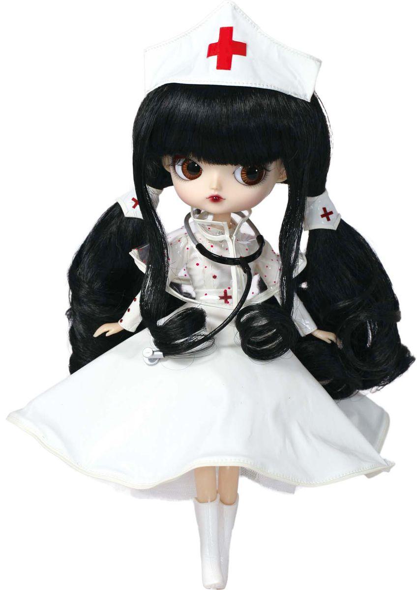 Groove Кукла Dal НаталиGRVD147Дизайнерские куклы от японской компании Groove могут похвастаться множеством подвижных шарнирных соединений, своей собственной историей и уникальным внешним видом — каждая кукла из этой серии обладает индивидуальной причёской и макияжем. С помощью специального механизма, расположенного в голове, можно изменять направление взгляда и закрывать глаза. В комплекте: шапочка медсестры, стетоскоп, подставка Материал: пластик Высота: 26 см