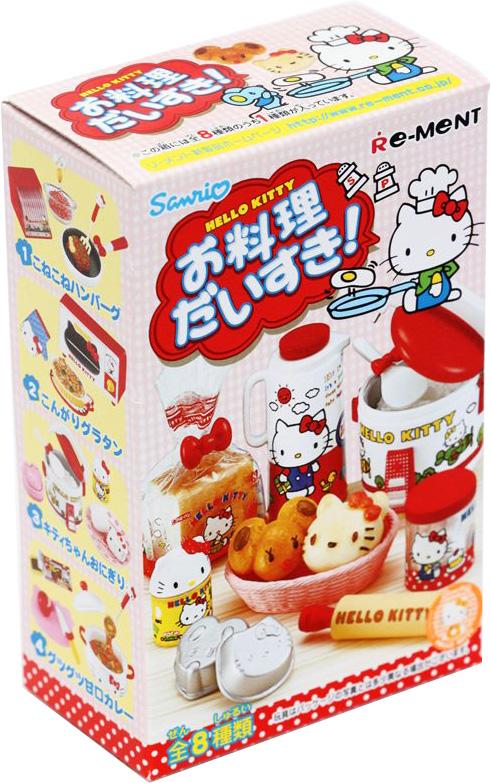 Hello Kitty Я люблю готовить, мини-фигуркиTOYRM0079Эти миниатюры можно не только рассматривать как самостоятельные маленьки фигурки, но и применять в качестве аксессуаров для кукольного домика. А главное, что мини-фугурки из этого набора продаются в закрытых коробочках и каждая новая покупка — это отличный сюрприз! Восемь мини-фигурок стилизованных под еду. Закрытые коробочки, случайный выбор из восьми вариантов. Цена указана за одну коробочку.