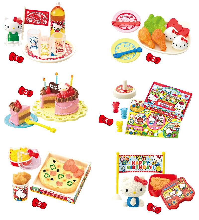 Hello Kitty С днем рожденья, мини-фигуркиTOYRM0611Эти миниатюры можно не только рассматривать как самостоятельные маленькие фигурки, но и применять в качестве аксессуаров для кукольного домика. А главное, что мини-фугурки из этого набора продаются в закрытых коробочках и каждая новая покупка — это отличный сюрприз! Шесть мини-фигурок стилизованных под еду. Закрытые коробочки, случайный выбор из шести вариантов. Цена указана за одну коробочку.