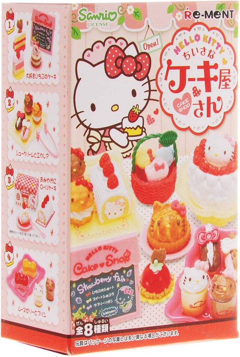 Hello Kitty Кондитерская, мини-фигуркиTOYRM0673Эти миниатюры можно не только рассматривать как самостоятельные маленьки фигурки, но и применять в качестве аксессуаров для кукольного домика. А главное, что мини-фугурки из этого набора продаются в закрытых коробочках и каждая новая покупка — это отличный сюрприз! Восемь мини-фигурок стилизованных под еду. Закрытые коробочки, случайный выбор. Цена указана за одну коробочку.