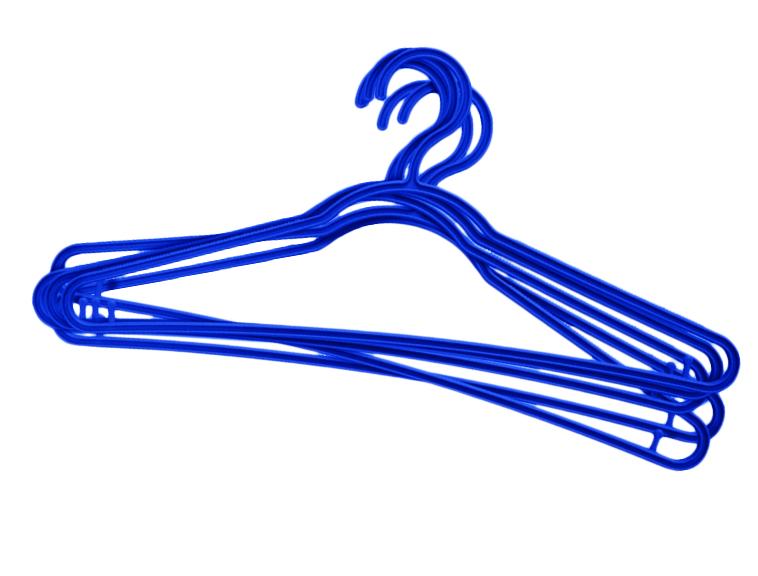 Вешалка для одежды York Стандарт, цвет: синий, 5шт.6700_синийВешалка для одежды York Стандарт изготовлена из прочного пластика. Благодаря шероховатой поверхности, одежда не будет скользить и падать с вешалки. Изделие имеет перекладину и два крючка для юбок и брюк. Подходит для любой одежды. Незаменимый аксессуар для аккуратного хранения вещей.