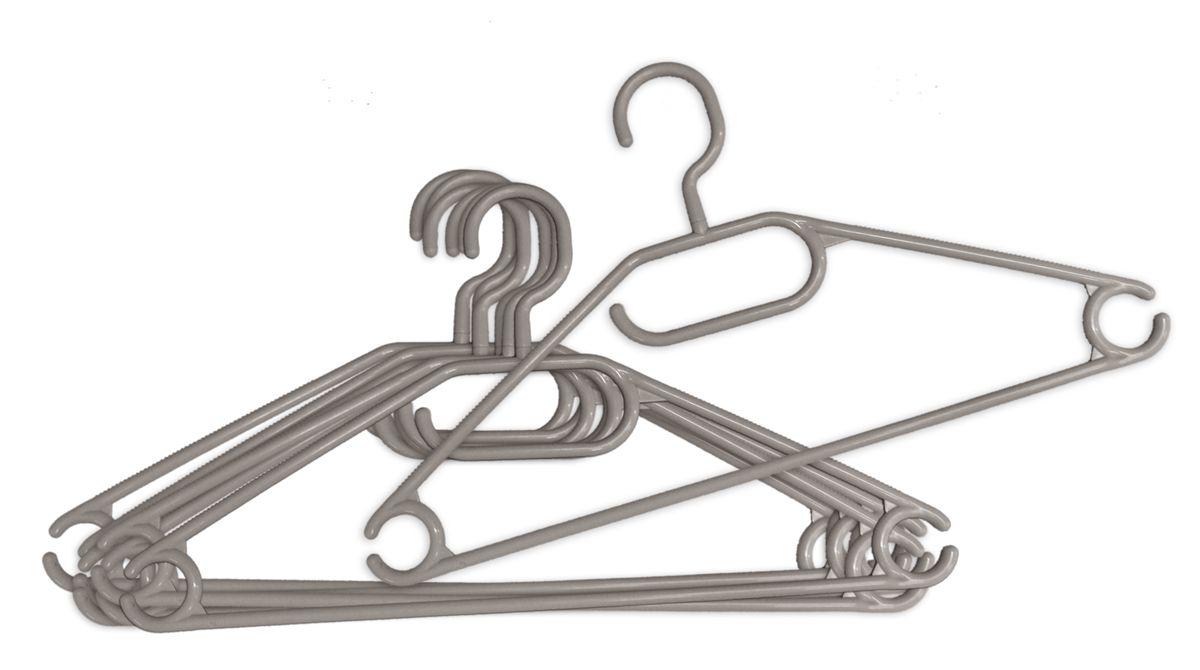 Вешалка для одежды York вращающаяся, 9+1шт., цвет: серый6709_серыйВешалка для одежды York изготовлена из прочного пластика ярких цветов. Наличие вращающегося крючка позволяет располагать вешалки под любым углом. Благодаря шероховатой поверхности, одежда не будет скользить и падать с вешалки. Изделие имеет перекладину и три крючка. Подходит для брюк, блузок, шарфов, галстуков. Незаменимый аксессуар для аккуратного хранения вещей.