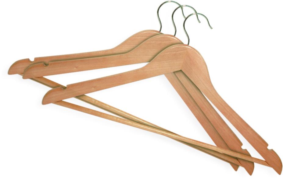 Вешалка деревянная для одежды York 3шт.6751