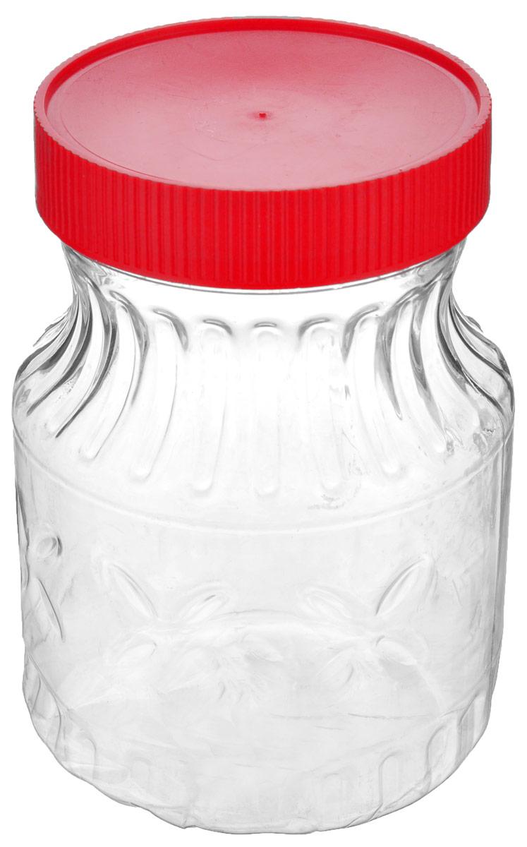 Банка Альтернатива Медовая, цвет: красный, прозрачный, 700 млM966_красныйБанка Альтернатива Медовая изготовлена из пластика. Изделие абсолютно безопасно для контакта с пищевыми продуктами. Банка закрывается крышкой, которая защищает содержимое от влаги и сохраняет продукты ароматными и свежими. В такой банке можно хранить мед, варенье, различные сыпучие продукты. Она практична и функциональна, пригодится в любом хозяйстве. Диаметр банки (по верхнему краю): 8 см. Высота банки (с учетом крышки): 14 см.