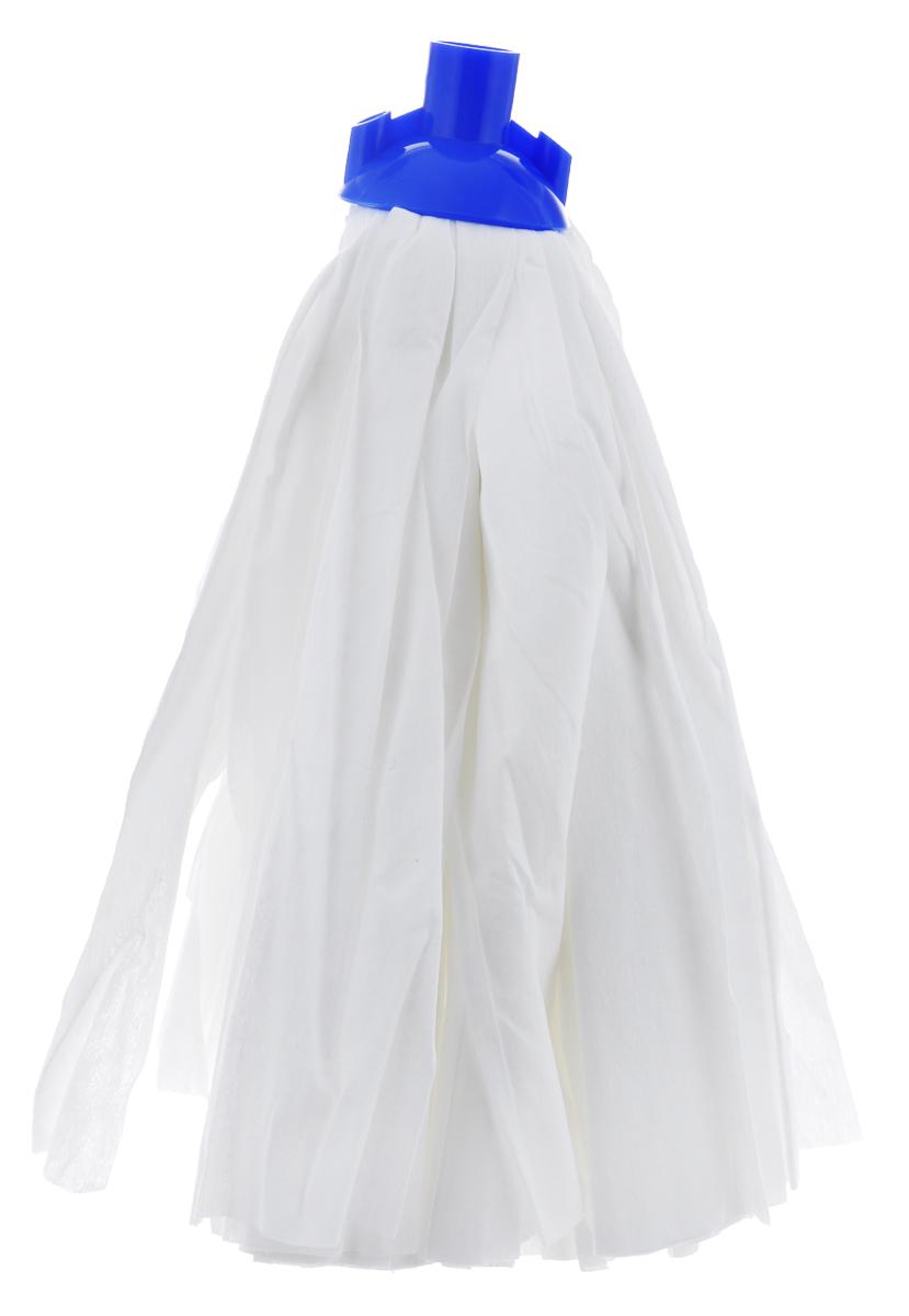 Насадка сменная для швабры Arix, цвет: белый, синийAP0234Насадка сменная для швабры Arix, выполненная из пластика и вискозы, подходит для мытья всех видов напольных поверхностей. Изделие имеет свойство впитывать большое количество влаги. Не оставляет ворсинок и разводов. Форма насадки позволяет справиться с труднодоступными загрязнениями. Длина насадки: 35 см.