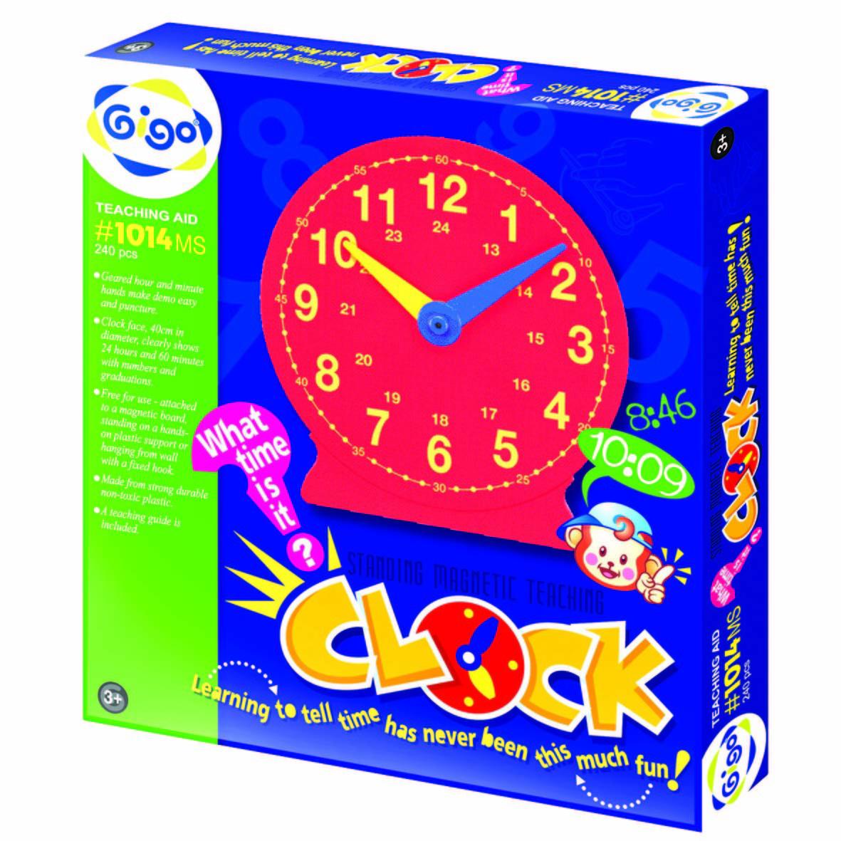 Gigo Конструктор Standing magnetik teaching clock (Гиго. Большие часы)1014MSКонструктор Gigo Большие часы научит Вашего ребенка узнавать время по часам.