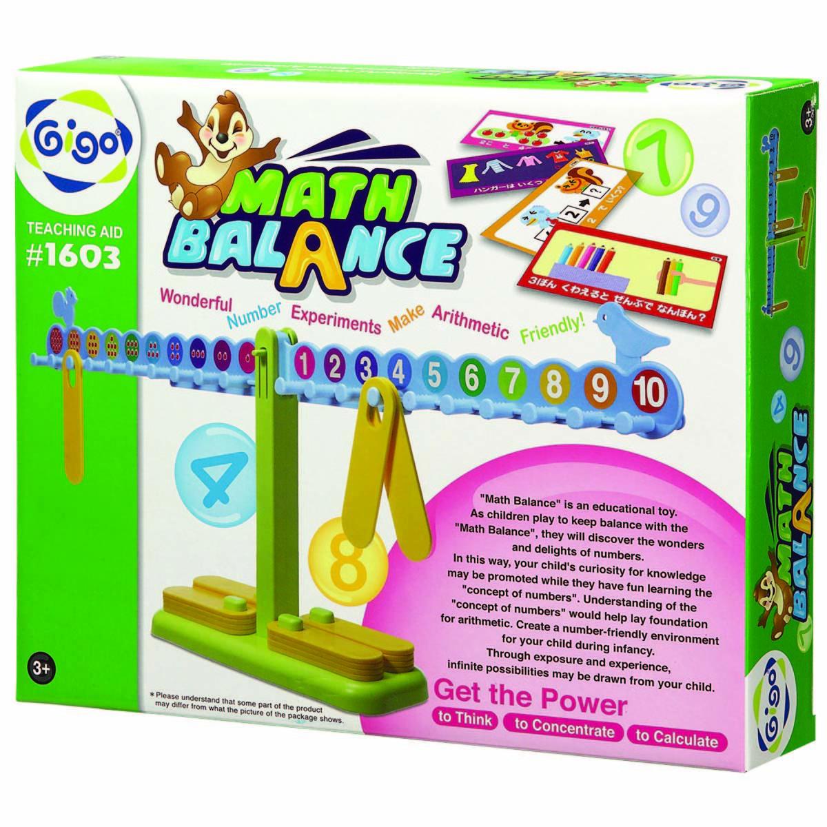 Gigo Конструктор Math balance (Гиго. Занимательные весы)1603Конструктор Gigo Math balance (Гиго. Занимательные весы) дает возможность в игровой форме освоить счет, сложение, вычитание, умножение и деление. В набор входит методическое пособие, которое поможет организовать обучение ребенка.
