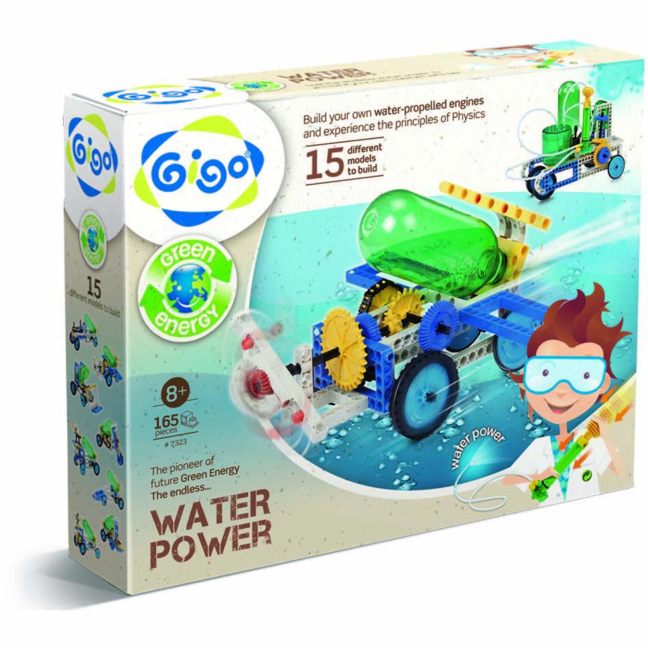 Gigo Конструктор Water power (Гиго. Энергия воды)7323Конструктор Gigo Water power (Гиго. Энергия воды) - научно-познавательный конструктор, сооружения которого работают от энергии воды. В наборе есть 165 деталей, из которых легко собрать 15 гидропневматических моделей. В инструкции пользователя, схемы сборки для каждой модели, полезная информация про компоненты гидросистемы, процесс превращения энергии воды в электрическую.