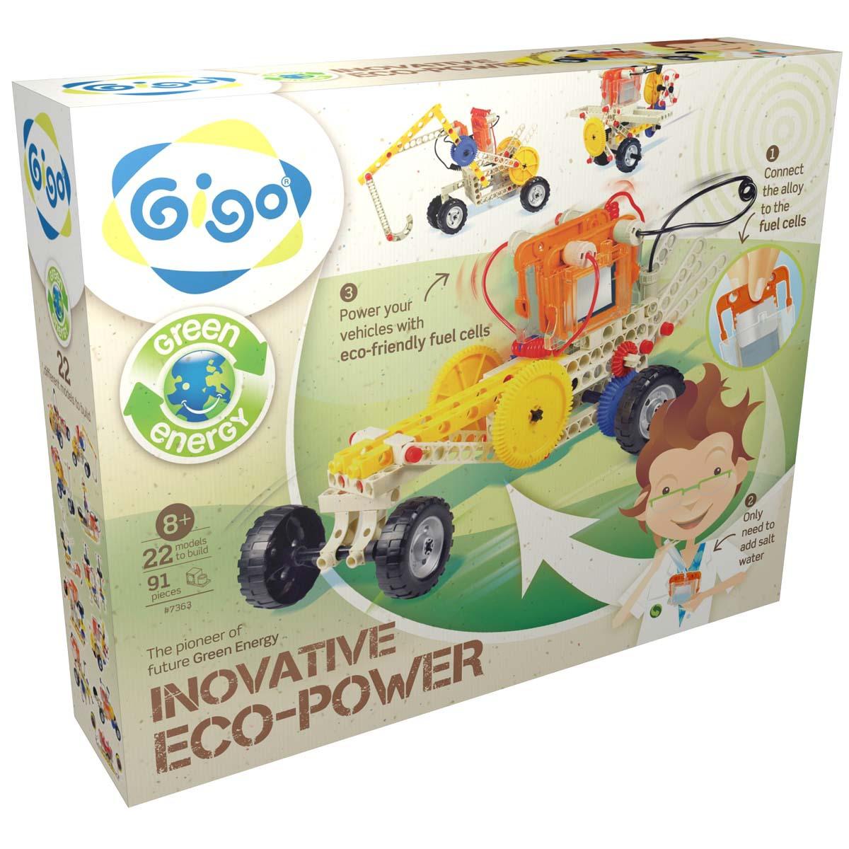 Gigo Конструктор Eco power (Гиго. Энергия соли)7363Конструктор Gigo Eco power (Гиго. Энергия соли) состоит из 91 детали, которые совместимы с другими научно-познавательными конструкторами. Ребенок может собрать 22 модели. Это лучшая игрушка для развития мелкой моторики, логики, внимания, пространственного мышления и воображения. Игра с конструктором помогает ребенку стать усидчивым и учит сосредоточенности.