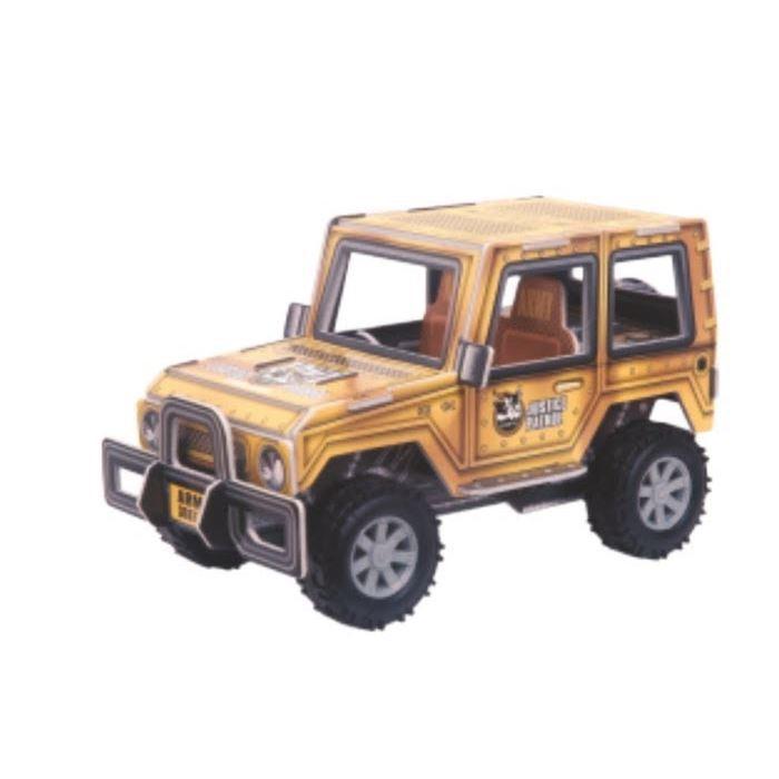 Education Line Конструктор 3D Action Puzzle (Экшн Пазл) Джип XL, цвет коричневыйD029336Хорошим подарком для вашего ребенка станет Конструктор 3D Action Puzzle (Экшн Пазл) Джип XL. Ваш юный механик может сам собрать замечательный Джип и затем играть с ним. Цвет: коричневый.