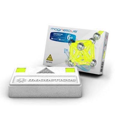 Magneticus Конструктор магнитный 34 элемента, цвет желтый
