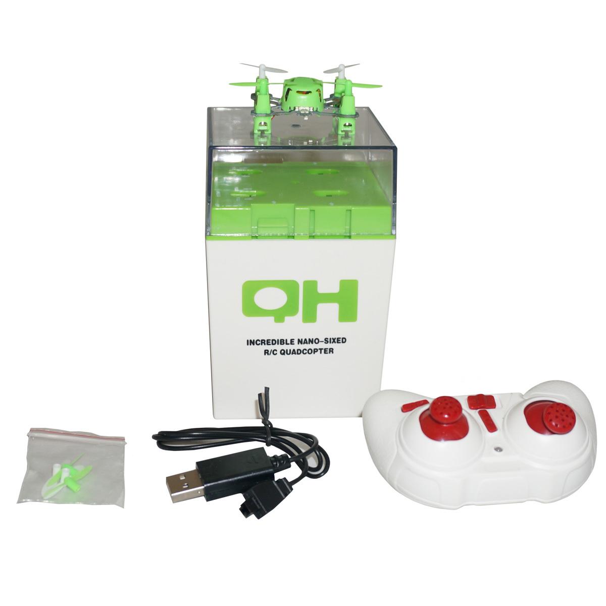 Family Fun Радиоуправляемая игрушка Квадрокоптер. Мини, цвет зеленыйGHD178398_greenСоздатели современных игрушек не перестают удивлять! Представляем Вашему вниманию Квадрокоптер мини. Радиоуправляемая игрушка нового поколения. Особенности игрушки: Аппаратура управления может быть настроена на 3 режима: для новичка, средний и для продвинутых. Этот микро летательный аппарат умеет делать переворот на 360 градусов! Для этого есть специальный режим. Разработчики предусмотрели все. На крыльях квадрокоптера расположены светодиоды. Такая индикация задействована во всем: она сообщит, когда аккумулятор квадрокоптера зарядился или, когда у него заканчивается заряд. Заряжается квадрокоптер от USB, через кабель идущий в комплекте приблизительно 30 минут (+/-) 10 минут - это зависит от тока, выдаваемого зарядным устройством USB или компьютером. Время полета микролета 5-8 минут. Все зависит от интенсивности режимов. Дальность полета 20-50 метров. Рекомендовано для детей старше 8 лет.