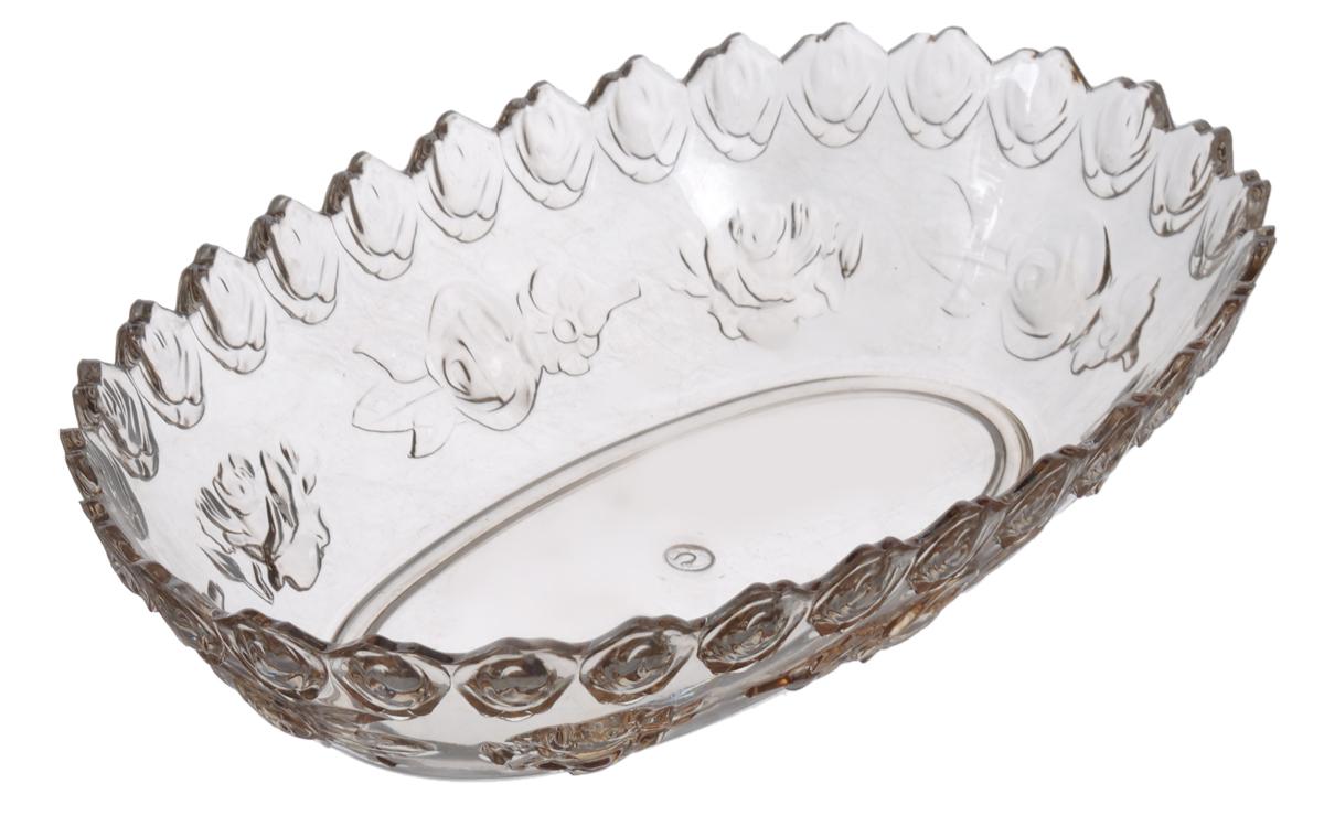Салатник Альтернатива Изобилие, 1 лM508Салатник Альтернатива Изобилие выполнен из прозрачного пластика и декорирован рельефным цветочным узором. Изделие прекрасно подойдет для подачи различных блюд, закусок, салатов и фруктов. Такой салатник украсит ваш праздничный или обеденный стол, а оригинальное исполнение понравится любой хозяйке. Размер салатника (по верхнему краю): 23 см х 15 см. Высота стенки: 6 см. Объём салатника: 1 л.