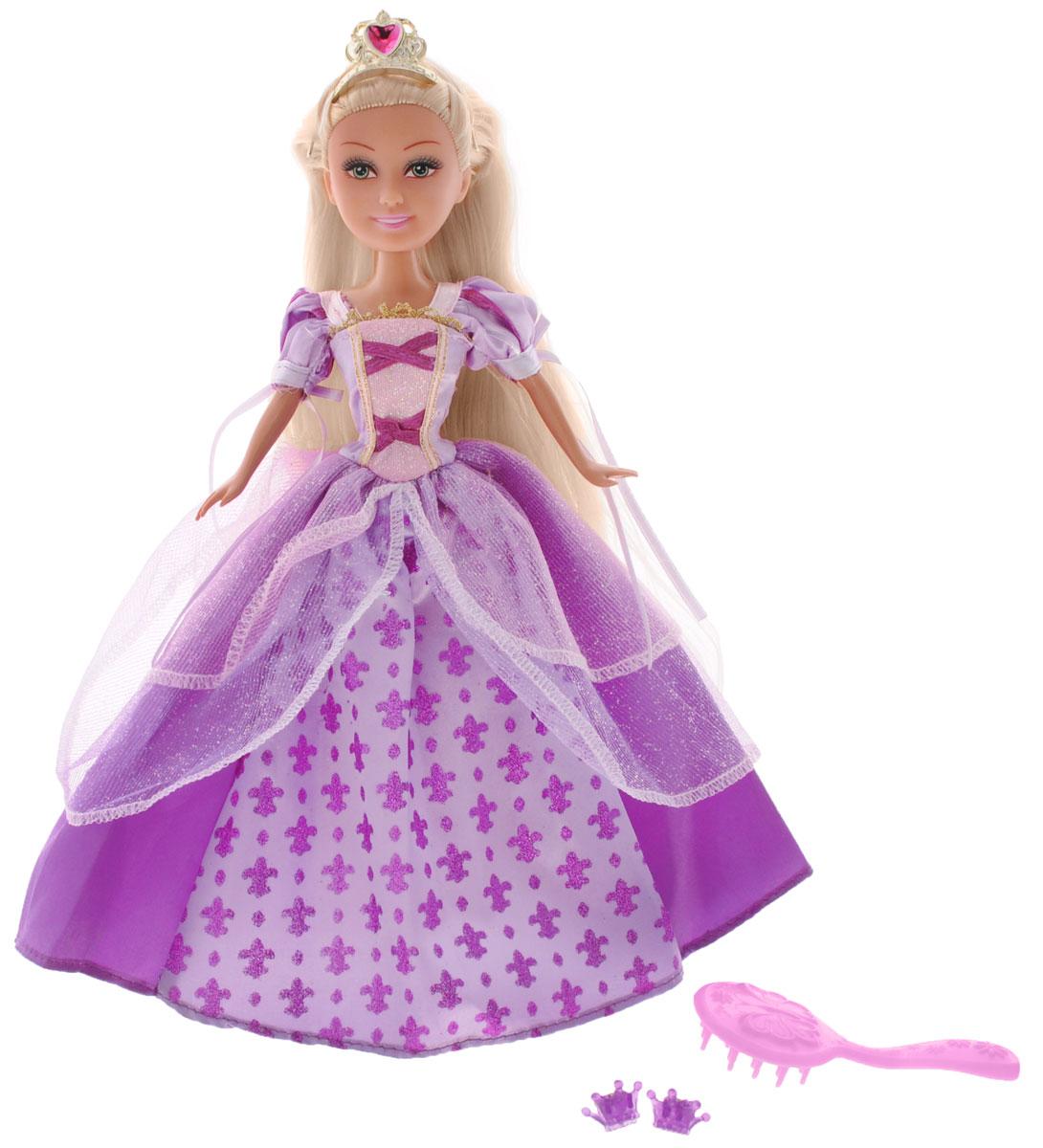 ABtoys Кукла Классическая принцесса240290Великолепная кукла ABtoys Классическая принцесса обязательно порадует вашу малышку и доставит ей много удовольствия от часов, посвященных игре с ней. Куколка с длинными светлыми волосами одета в шикарное фиолетовое платье принцессы, украшенное блестками. На голове куклы надета диадема с розовым драгоценным камнем в форме сердца. Ножки, голова и ручки куколки подвижны, а волосы можно расчесывать. Вместе с куклой в наборе предлагается расческа, 2 заколки для волос и пара туфелек. Brilliance Fair - милые подружки! Эти девочки могут развлекаться и никогда не устают друг от друга! Их невероятно привлекательные наряды делают их абсолютными королевами любой вечеринки! Кукла станет настоящей подружкой для своей юной обладательницы! Порадуйте свою малышку таким великолепным подарком!