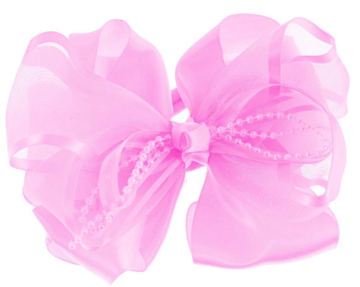 Резинка для волос Babys Joy, цвет: светло-розовый. MN 61MN 61_нежно-розовыйРезинка для волос Babys Joy изготовлена из текстиля и дополнена милым бантиком, который оформлен пластиковыми бусинами. Резинка для волос Babys Joy надежно зафиксирует волосы и подчеркнет красоту прически вашей маленькой принцессы.