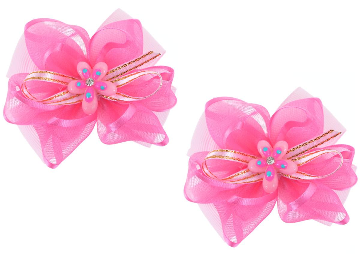 Резинка для волос Babys Joy, цвет: розовый, 2 шт. MN 202/2MN 202/2_розовыйРезинка для волос Babys Joy изготовлена из текстиля и дополнена милым бантиком, который оформлен цветочком из пластика со стразами. Комплект содержит две резинки. Резинка для волос Babys Joy надежно зафиксирует волосы и подчеркнет красоту прически вашей маленькой принцессы.