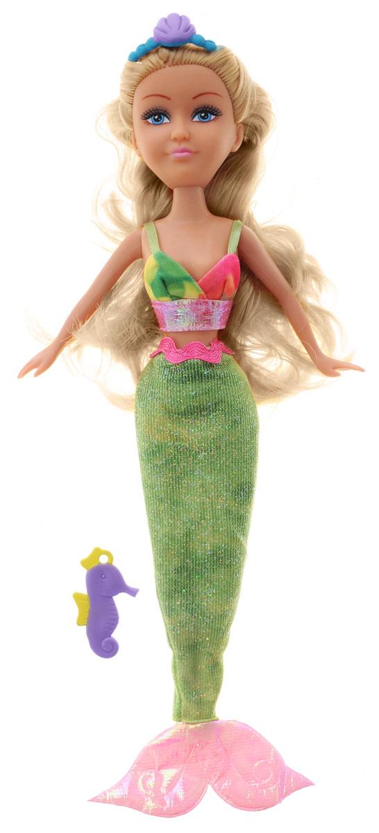 ABtoys Кукла Русалка Никси2400062Великолепная кукла ABtoys Русалка Никси обязательно порадует вашу малышку и доставит ей много удовольствия от часов, посвященных игре с ней. Куколка с длинными волосами и голубыми глазами одета в красивое зеленое платье. Ножки, голова и ручки куколки подвижны, а волосы можно расчесывать. Вместе с куклой в наборе предлагается диадема в форме морской раковины и кулон в виде морского конька для маленькой хозяйки куклы. Brilliance Fair - милые подружки! Эти девочки могут развлекаться и никогда не устают друг от друга! Их невероятно привлекательные наряды делают их абсолютными королевами любой вечеринки! Кукла станет настоящей подружкой для своей юной обладательницы! Порадуйте свою малышку таким великолепным подарком!