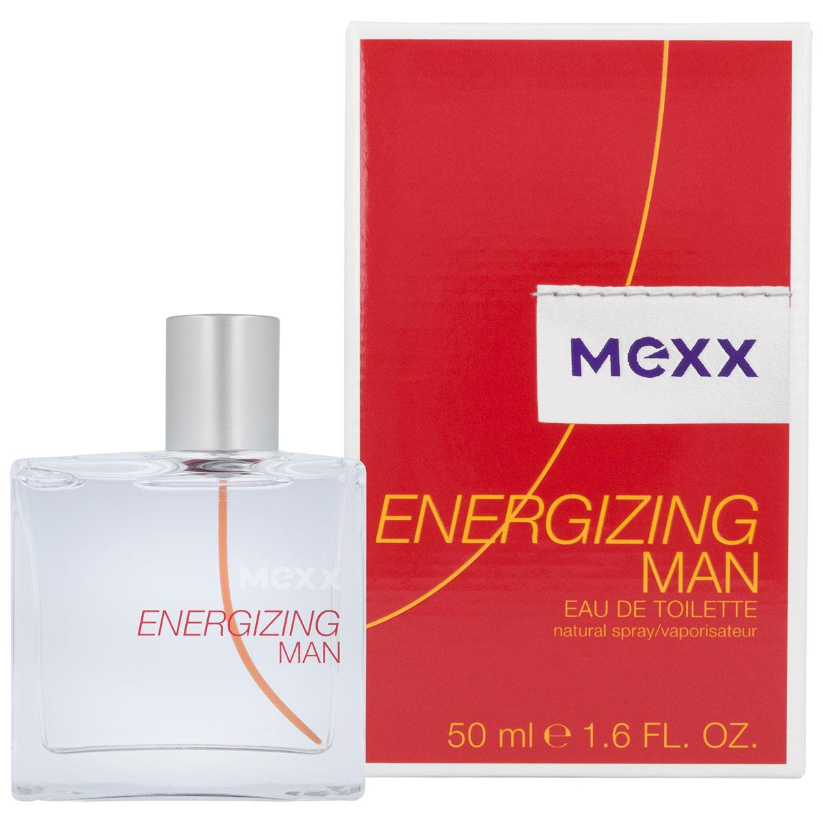 Mexx Energizing Man Туалетная вода, 50 мл0737052679068Жизнерадостный аромат, наполняющий Вас энергией и позитивом. Mexx наполняет Вас положительной энергией и передает ощущение яркого солнечного утра. Mexx Energizing Man - это бодрящая свежесть и приятная прохлада.! Energizing Man - встречаем новый день с оптимизмом! Композиция: грейпфрут, апельсин, водные оттенки, полынь, мускатный орех, кедр, пачули, мускус, амбра. Мужской аромат представляет певец Джеймс Блант. Аромат создан в 2013г.