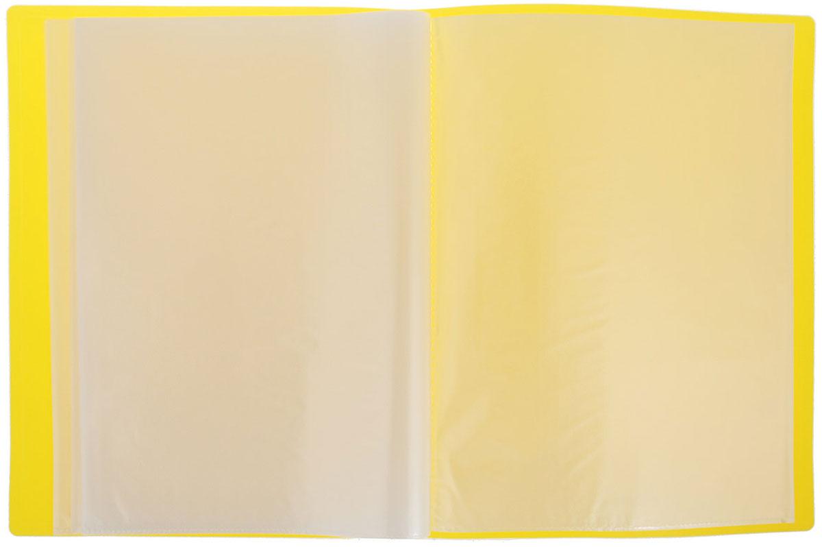 Erich Krause Папка с файлами 40 листов цвет желтый
