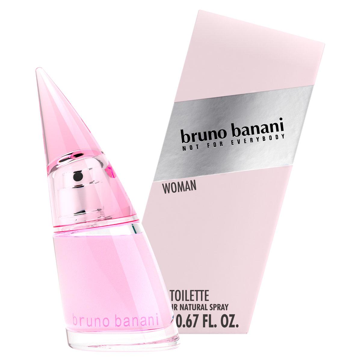 Bruno Banani Woman Туалетная вода 20 мл0737052903606АРОМАТ bruno banani WOMAN - полный энергии, соблазнительный и дерзкий, но очень чувственный. Фруктовые ноты персика смешиваются с теплотой ванили и придают аромату чувственность.