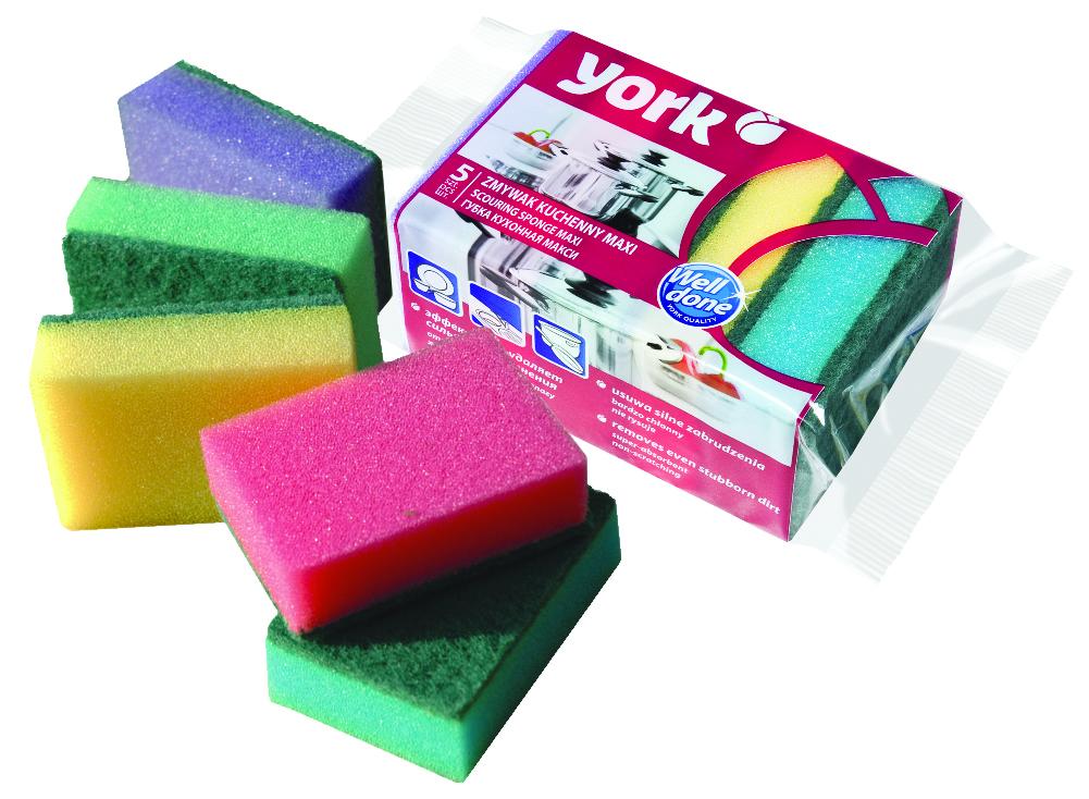 Набор губок для мытья посуды York Макси, 5 шт3004Набор York Макси состоит из 5 разноцветных губок с абразивным чистящим слоем, который не крошится и не отслаивается от губки. Комплектация: 5 шт. Размер губки: 9,5 см х 7 см х 2,5 см. Уважаемые клиенты! Обращаем ваше внимание на ассортимент в цветовом дизайне товара. Поставка осуществляется в зависимости от наличия на складе. .