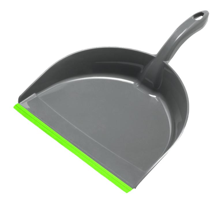 Совок York Коралл, с резиновым краем, цвет: серый, салатовый6109Совок York Коралл, выполненный из пластика, предназначен для сбора мусора и пыли при уборке помещений. Он оснащен эргономичной ручкой с петлей, которая позволит повесить изделие на крючок. Благодаря резиновому краю совка, в него легко сметать грязь и мусор. Размер рабочей части: 21 см х 16 см. Длина ручки: 12 см.