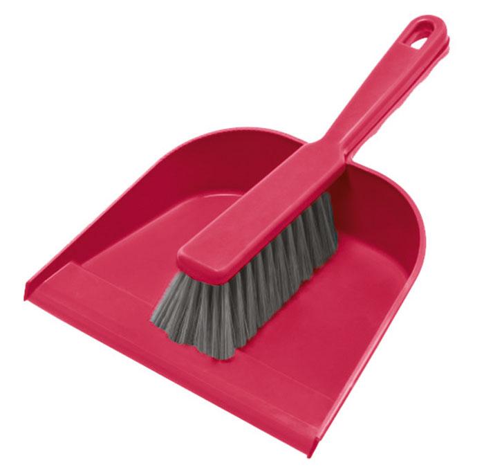 Набор для уборки York, цвет: серый, малиновый, 2 шт. 62016201Набор York, изготовленный из высококачественного полипропилена и полиэтилентерефталат (ПЭТ), состоит из совка и щетки. Вместительный совок удерживает собранный мусор, позволяет эффективно и быстро совершать уборку в любом помещении. Прорезиненный край изделия обеспечивает наиболее плотное прилегание к полу. Щетка имеет удобную форму, позволяет вымести мусор даже из труднодоступных мест. Совок и щетки оснащены ручками с отверстиями для подвешивания. С набором York уборка станет легче и приятнее. Общая длина щетки: 26 см. Размер рабочей части щетки: 13 х 5 х 5 см. Длина совка: 31 см. Размер рабочей части совка: 22 х 17,5 х 5,5 см.