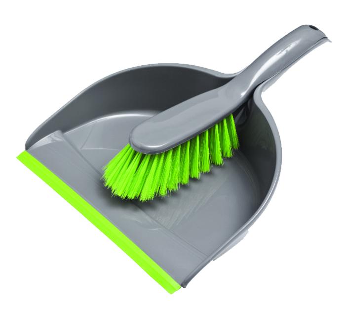 Набор для уборки York Компакт, цвет: салатовый, серый, 2 предмета6205Набор для уборки York Компакт состоит из совка и щетки-сметки, изготовленных из высококачественного полипропилена. Вместительный совок удерживает собранный мусор, позволяет эффективно и быстро совершать уборку в любом помещении. Прорезиненный край совка обеспечивает наиболее плотное прилегание к полу. Щетка-сметка с жестким ворсом из высококачественного полимера имеет удобную форму, позволяет вымести мусор даже из труднодоступных мест. Совок и щетка-сметка оснащены ручками с отверстиями для подвешивания. С набором York Компакт уборка станет легче и приятнее. Общая длина щетки-сметки: 30 см. Длина ворса щетки-сметки: 6,5 см. Длина совка: 33,5 см. Ширина совка: 22 см.