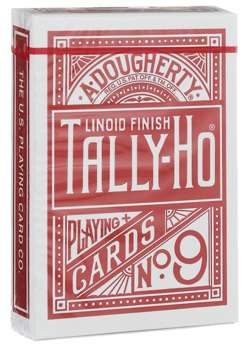 Карты игральные Tally-Ho Circle Back, цвет: красный, 54 штК-012Карты с рубашкой в виде Circle Back выполнены из высококачественного картона Tally-Ho Stock с покрытием Linoid Finish. Карты Tally-Ho отличаются высочайшим качеством исполнения, долговечностью и роскошным дизайном. За эти свойства их так любят известные фокусники. Подходят для игры в покер и другие карточные игры.