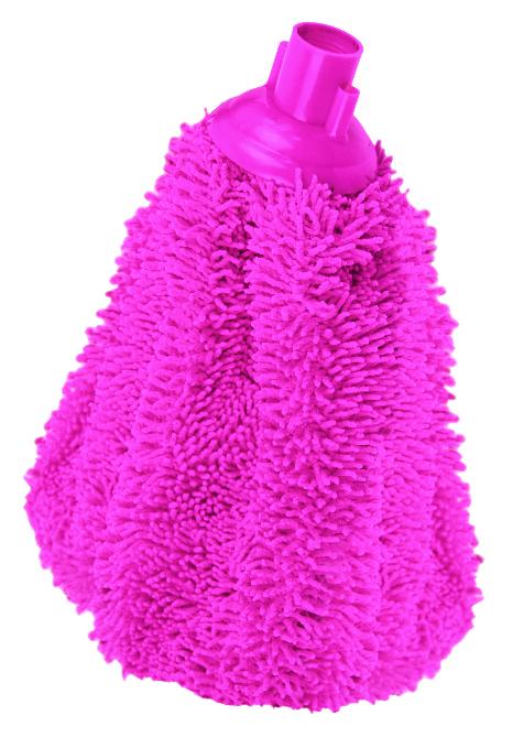 Насадка для швабры York Мини Сальса, сменная, цвет: розовый7705Сменная насадка для швабры York Мини Сальса изготовлена из полиэстера, полиамида и пластика. Микрофибра обладает высокой износостойкостью, не царапает поверхности и отлично впитывает влагу. Эффективно удаляет большинство жирных и маслянистых загрязнений без использования химических веществ. Насадка обладает сверхвпитываемостью, сохраняет свою структуру и форму даже после многократного использования. Такая насадка сделает уборку эффективнее и приятнее. Она идеально подходит для мытья всех типов напольных покрытий. Сменная насадка для швабры York Мини Сальса станет незаменимой в хозяйстве. Длина насадки: 28 см.