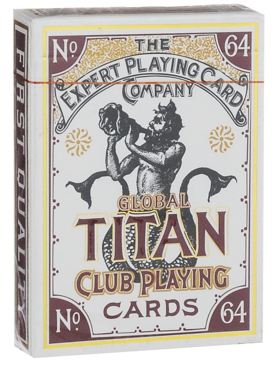 Карты игральные Bicycle Global Titans, цвет: белый, золотойК-297Мелкозернистые игральные карты Bicycle Global Titans изготовлены из высококачественного картона и имеют восхитительную структуру. Global Titans - удивительно тонкая, гибкая колода, вручную сделанная в Шанхае. В дополнение к исключительному качеству самих карт коробка выполнена в стиле Ар-нуво, рельефно напечатана с использованием золотой фольги. Этими картами можно играть в любые карточные игры, также их по достоинству оценят коллекционеры. Отлично подойдут для подарка.