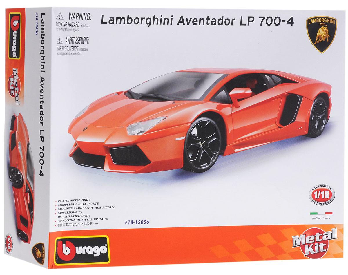 Bburago Сборная модель автомобиля Lamborghini Aventador LR 700-4