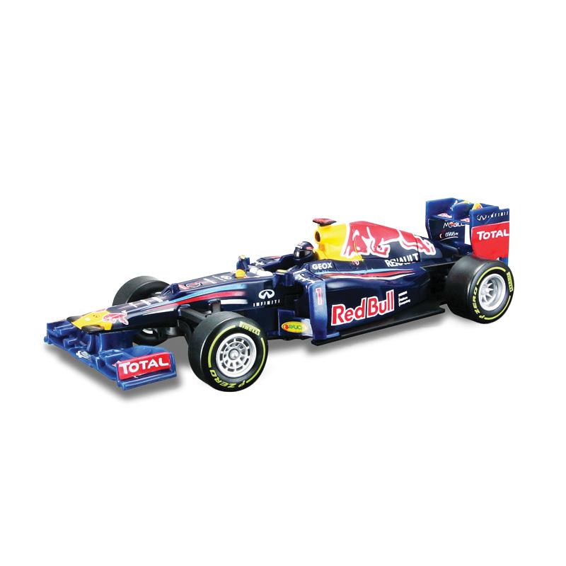 Bburago Модель на инфракрасном управлении Redbull Формула-1 201218-41214Машинка на инфракрасном управлении Bburago Redbull Формула-1 2012 непременно понравится вашему малышу. Выполненная из безопасного прочного пластика модель представляет собой точную копию гоночного автомобиля команды Redbull Формула-1 2012 года в масштабе 1/32. При помощи инфракрасного пульта управления, который так легко крепится на запястье маленького гонщика, машинка может двигаться влево, вправо, назад и вперед. Ремешок инфракрасного пульта управления имеет 3 положения крепления. Для управления машиной на инфракрасном пульте расположен руль и несколько кнопок. Дальность действия пульта - 10 метров. Игрушечные машинки - незаменимый спутник роста и развития мальчиков! Во все времена игры в машинки были самыми популярными у детей. В процессе игры ребенок развивает координацию движений и меткость, пространственное и образное мышление, воображение, мелкую моторику. С мини-модельками автомобилей Bburago игра станет настолько увлекательной, что оторваться будет невозможно!...