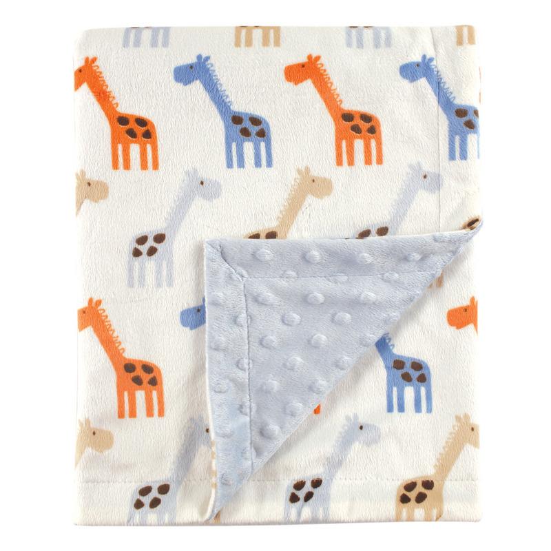 Hudson Baby Плед Жираф, 76х101 см, цвет голубой