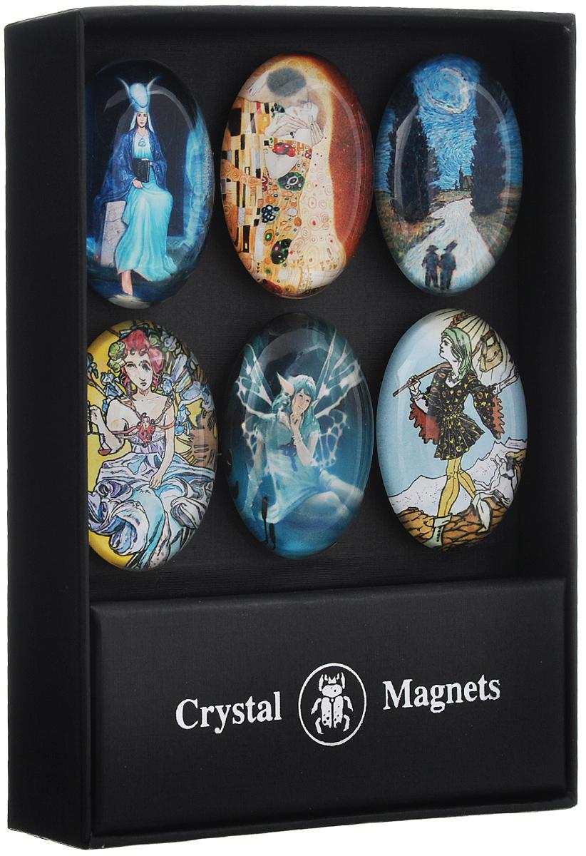 Набор магнитов Lo Scarabeo Классика, 6 шт. MAG02MAG02Набор Lo Scarabeo Классика состоит из шести различных магнитов овальной формы, выполненных из качественного стекла. Необычные магниты с иллюстрациями со Старшими Арканами из колод Lo Scarabeo прекрасно подходят для крепления к металлической поверхности стикеров, записок, листов и т.д. Такие магниты добавят оригинальности в повседневную жизнь и удивят окружающих. Комплектация: 6 шт. Размер магнита: 4,5 см х 3,3 см.
