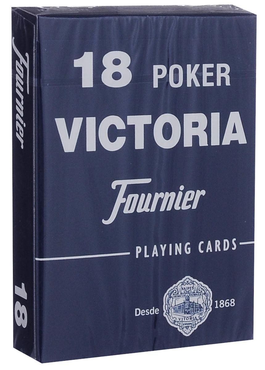 Карты игральные Fournier №18, стандартный индекс, цвет: синий, 55 штК-507Карты для покера Fournier №18 – это карты от известного испанского производителя, продукция которого завоевала мировую популярность. Карты изготовлены по современным покерным стандартам и технологиям, они отличаются высокими износостойкими характеристиками, а пластиковое покрытие не стирается и не осыпается, несмотря на интенсивное использование. Покерные карты Fournier №18 приятно держать в руках, они не слипаются, и их хорошо принимает шафл-машинка. Высокая четкость изображения рисунков и цифр на картах позволяет их хорошо видеть с любого места за столом. Карты имеют покерный размер и стандартный индекс. Такие карты отлично в одинаковой мере хорошо подойдут для игры как среди начинающих игроков, так и профессионалов покера. Колода содержит 55 карт.