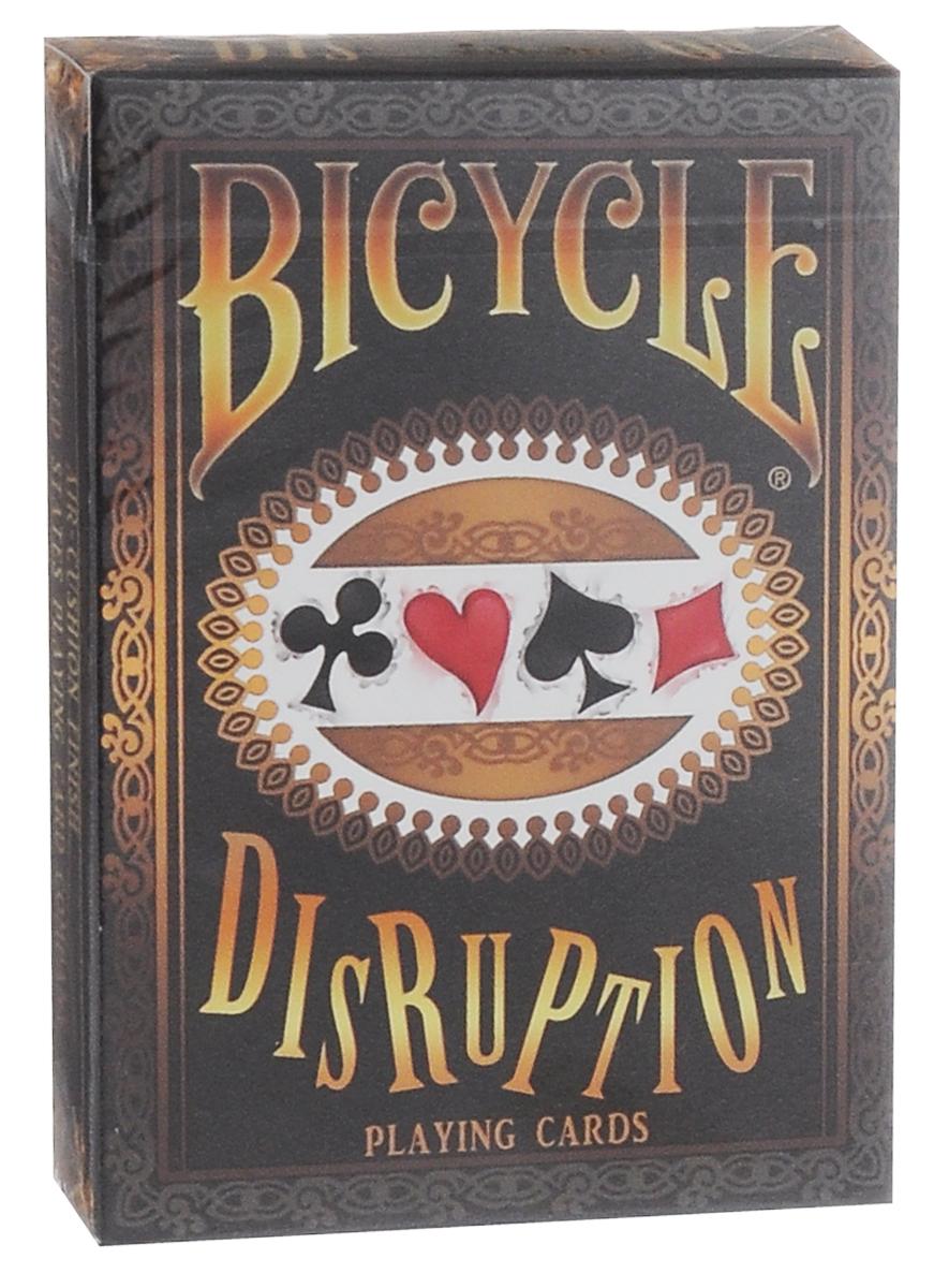 Карты игральные Bicycle Disruption, цвет: белый, красныйК-406Игральные карты Bicycle Disruption изготовлены из высококачественного картона с покрытием Air-Cushion Finish. Карты имеют стандартный размер и обычный индекс. Будьте готовы к встрече с самой забавной колодой. Масти и рисунки смещены в разные стороны, изображения карт имеют очень причудливые формы. Этими картами можно играть в любые карточные игры, также их по достоинству оценят коллекционеры. Отлично подойдут для подарка.