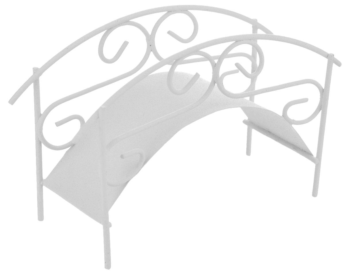 Фигурка для мини-сада Bloomits Мостик, цвет: белый, 11,5 см х 4 см х 7 см827016_белыйФигурка Bloom`its, выполненная в виде мостика, поможет создать свой собственный мини-сад. Заниматься ландшафтным дизайном и декором теперь можно, даже если у вас нет своего загородного дома, причем не выходя из дома. Устройте себе удовольствие садовода, собирая миниатюрные фигурки и составляя из них различные композиции. Объедините миниатюрные изделия в емкости (керамический горшок, корзина, деревянный ящик или стеклянная посуда) и добавьте мини-растения. Это не только поможет увлекательно провести время, раскрывая ваше воображение и фантазию, результат работы станет стильным и необычным украшением интерьера.
