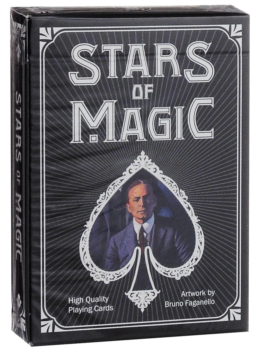 Карты игральные коллекционные Lo Scarabeo Stars of Magic - Black Edition, 54 карты. PC53PC53Игральные карты Lo Scarabeo Stars of Magic - White Edition - это высококачественная колода игральных карт, которая понравится как профессиональным игрокам, так и любителям. Карты стилизованы под кости домино. Карты оформлены изображениями звезд магического искусства - знаменитых фокусников и факиров. Игральные карты Lo Scarabeo приятно удивят вас высоким качеством исполнения и подойдут для игроков всех возрастов и уровней подготовки.