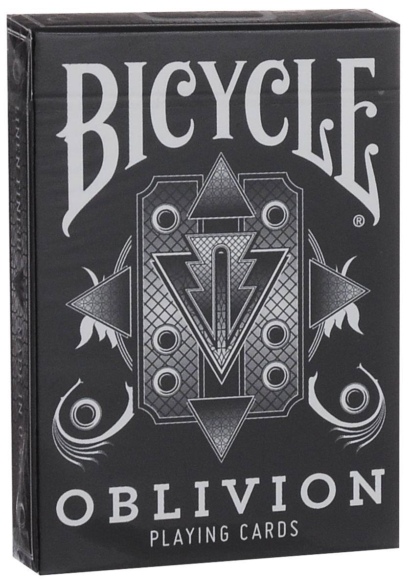 Игральные карты Bicycle Oblivion, цвет: черный, белыйК-311Игральные карты Bicycle Oblivion изготовлены из высококачественного картона. Вашему вниманию представляется необычная колода, разработанная Дэйвом Бемом. Оригинальные дизайнерские тузы, фигуры, джокер, специальные карты не оставят вас равнодушными. Этими картами можно играть в любые карточные игры.