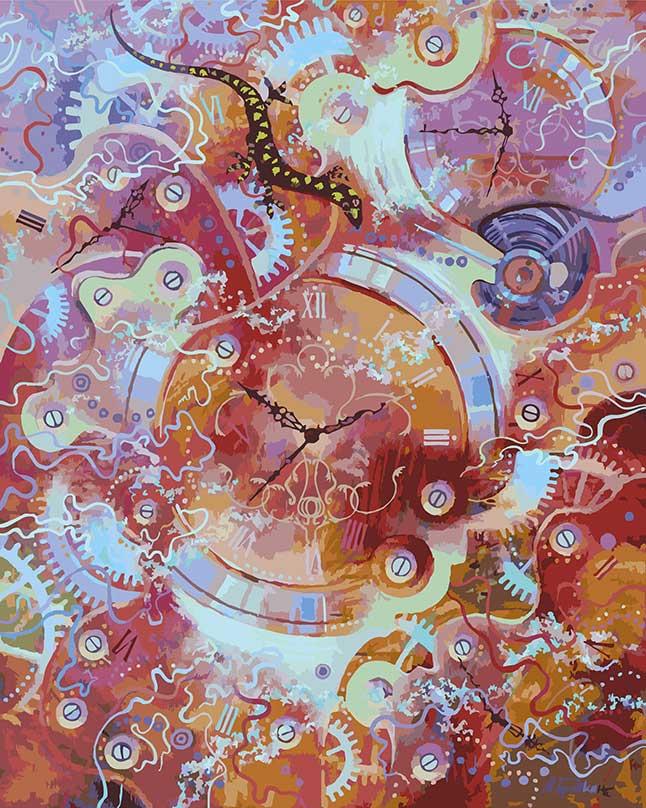 Живопись на холсте Пески времени, 40 см х 50 см135-АВКартина раскрашивается без смешивания красок. Все необходимые цвета красок есть в комплекте. Просто закрашивайте участки красками с соответствующим номером. В набор также входит холст, натянутый на деревянный подрамник, три кисточки, крепеж для подвешивания картины и контрольный лист. Художник: Михаил Бровкин