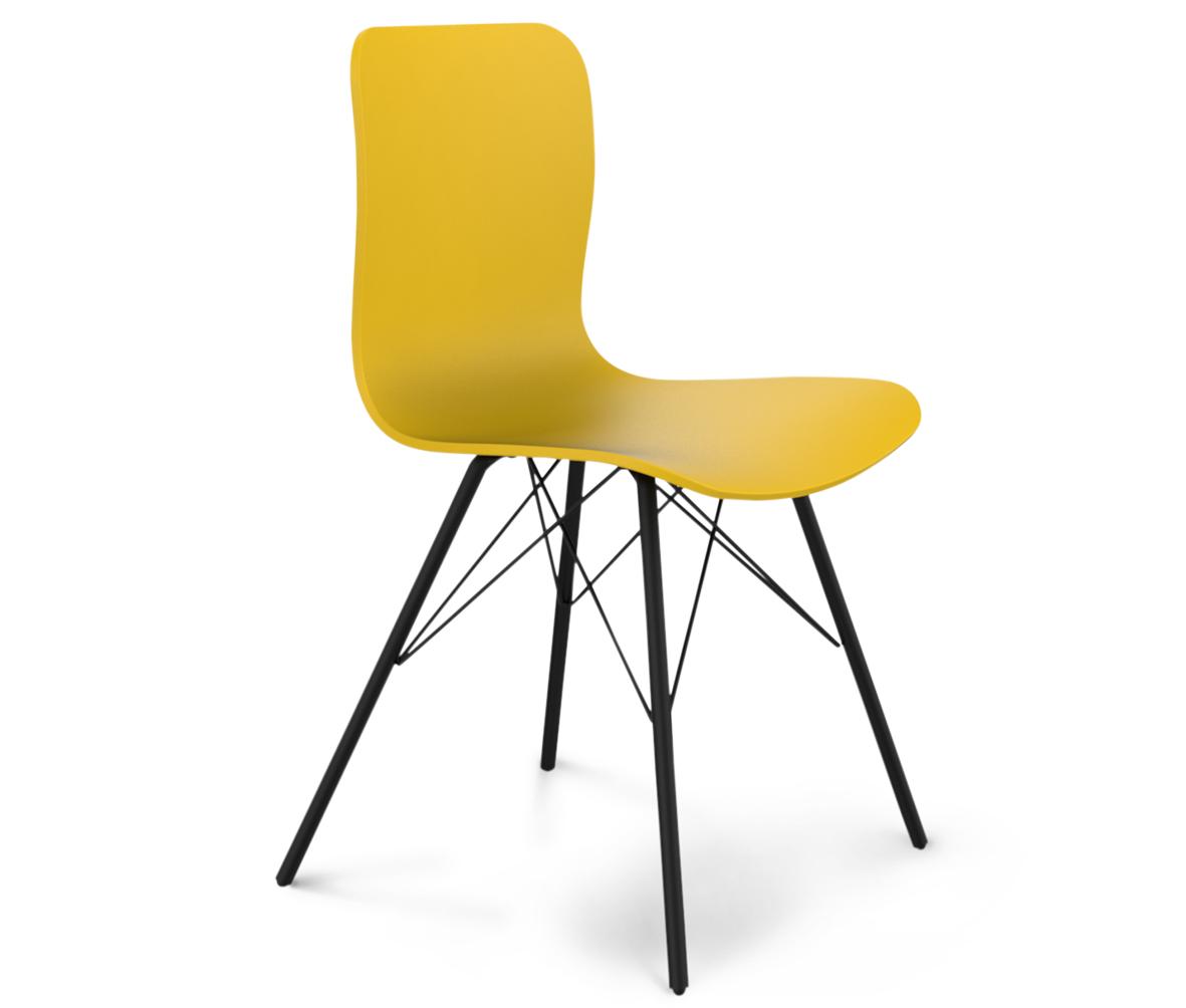 Стул Sheffilton SHT-S40желтый/черный муарСТ-40Удобный пластиковый стул на металлокаркасе; - Сидение выполнено из полипропилена - Устойчивый опоры выполнены из металлической трубы; - Металлический каркас покрыт порошковой краской устойчивой к механическому воздействию; - Оптимален с точки зрения цена/дизайн/качество; - Подходит для дома, лоджии сада, а также для кафе, баров и ресторанов; - Надежен и легок в уходе; - Практически не утрачивает внешнего вида в процессе эксплуатации; - Толщина сиденья: 8мм; - Размер сиденья: 420х470х460мм; - Высота спинки: 460мм;