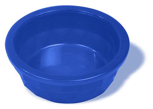 Миска мелкая тяжелая полупрозрачная, синяя, 120 мл1039