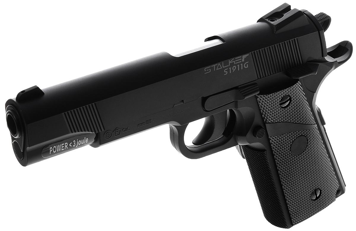 "Stalker Пистолет пневматический Stalker ""S1911G"", цвет: черный"