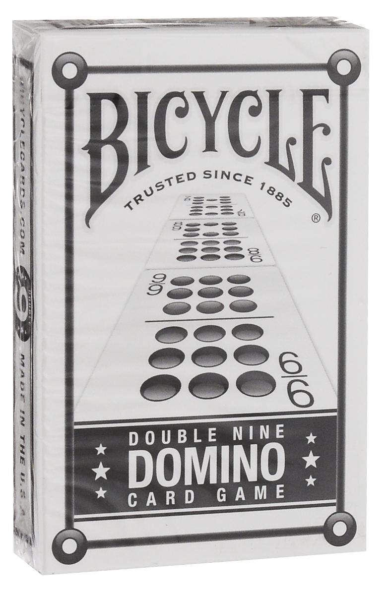 Карты игральные Bicycle Double Nine Domino Cards, 55 листовК-250Игральные карты Bicycle Double Nine Domino Cards - это высококачественная колода из 55 карт, которая понравится как профессиональным игрокам, так и любителям. Карты стилизованы под кости домино. Комплект домино не так легко носить с собой, как колоду карт. Именно поэтому компания Bicycle объединила карты и домино, создав эту оригинальную колоду. Эта колода - полный комплект домино. Носите ее с собой, чтобы скоротать время в поезде, в аэропорту или просто провести вечер в компании друзей или в кругу семьи. Игральные карты Bicycle приятно удивят вас высоким качеством исполнения и подойдут для игроков всех возрастов и уровней подготовки. Карты bridge size.